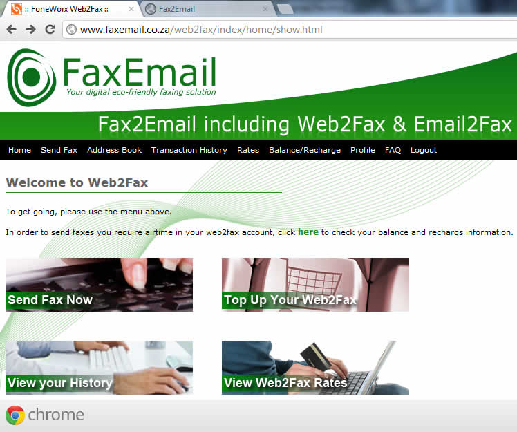 free fax to email south africa